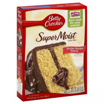Betty Crocker Supermoist Cake Mix Butter