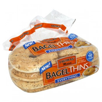 Thomas' Bagel Thins Everything Pre-Sliced - 8 ct