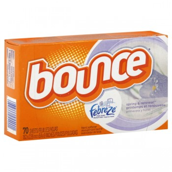 Bounce Dryer Sheets with Febreze Spring & Renewal