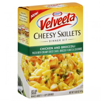 Kraft Velveeta Cheesy Skillets Dinner Kit Chicken and Broccoli