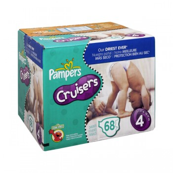 Pampers Custom Fit Cruisers Diapers Size 4 Both Big Pack - 22-37 lbs