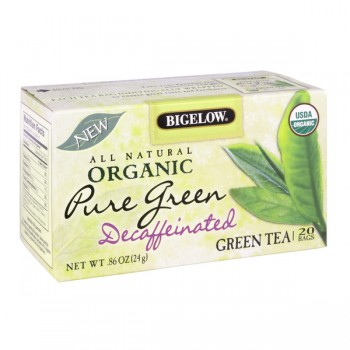 Bigelow Pure Green Tea Bags Decaffeinated Organic