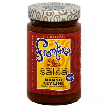 Frontera Gourmet Mexican Salsa Mango Key Lime Medium All Natural