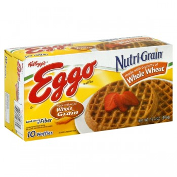 Kellogg's Eggo Waffles Nutri-Grain Whole Wheat - 10 ct