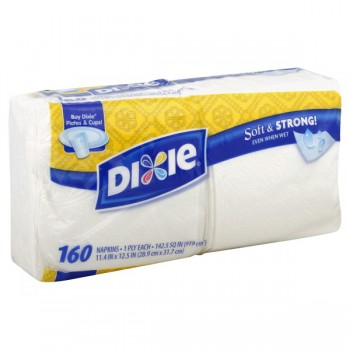 Dixie Napkins 1-Ply White