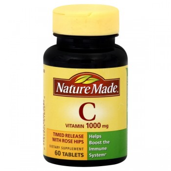Nature Made Vitamin C 1000 mg with Rose Hips Timed Release Tablets