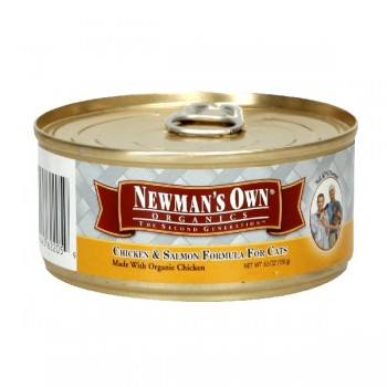 Newman's Own Organics Wet Cat Food Chicken & Salmon Formula