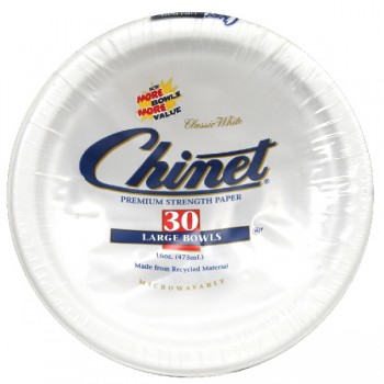 Chinet Classic Bowls Paper White Large 16 oz
