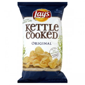 Lay's Kettle Cooked Potato Chips Original All Natural
