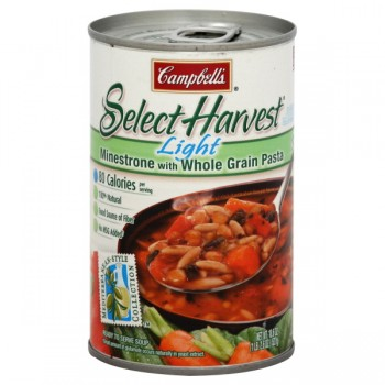 Campbell's Select Harvest Soup Minestrone with Whole Grain Pasta Light