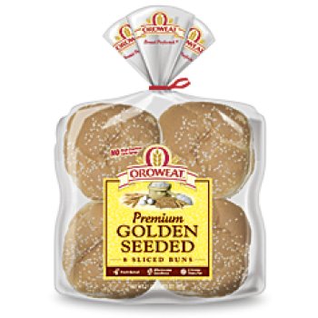 Oroweat Premium Golden Seeded Hamburger Buns 4.5'' - 8 ct