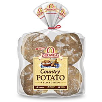 Oroweat Country Potato Hamburger Buns 4.5'' - 8 ct
