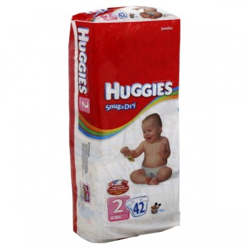 Huggies Snug & Dry Diapers Size 2 Both Jumbo Pack - 12-18 lbs