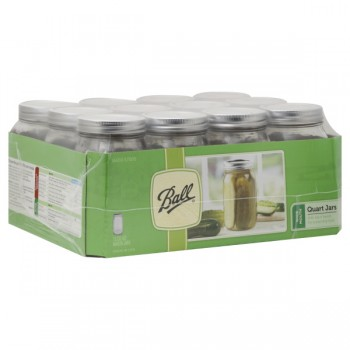 Ball Mason Jars Wide Mouth Quart Full Case