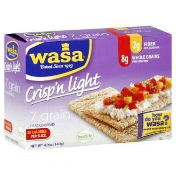 Wasa Crackerbread Crackers Crisp'n Light 7 Grain All Natural