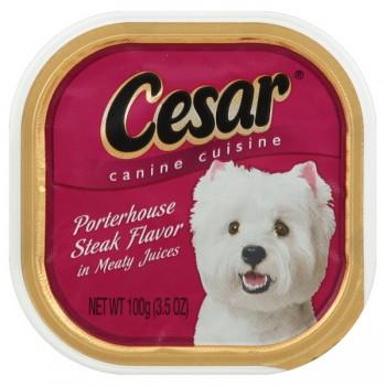 Cesar Original Pate Wet Dog Food Porterhouse Steak