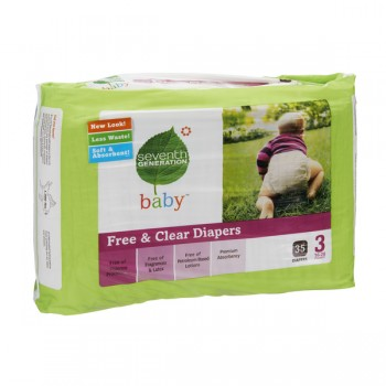Seventh Generation Diapers Chlorine-Free Stage 3 Both - 16-28 lbs