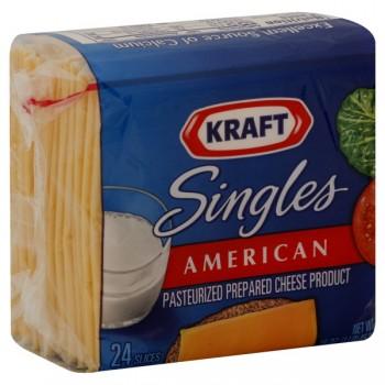Kraft Cheese American Singles - 24 ct
