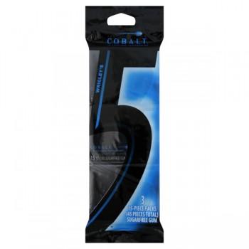 Wrigley's 5 Gum Cobalt Sugar Free - 3 pk