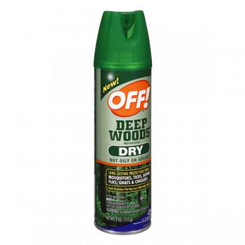OFF! Deep Woods Dry Insect Repellent VIII 25% Deet Aerosol