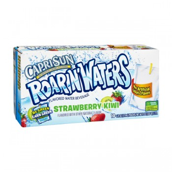 Capri Sun Roarin' Water Beverage Strawberry Kiwi 0% Juice - 10 pk