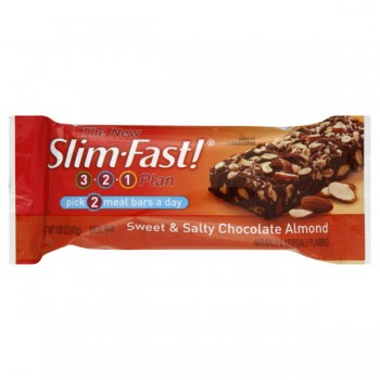 Slim Fast 3-2-1 Plan 200 Calorie Bars Sweet & Salty Chocolate Almond