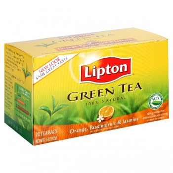 Lipton Orange, Passionfruit & Jasmine Green Tea Bags 100% Natural