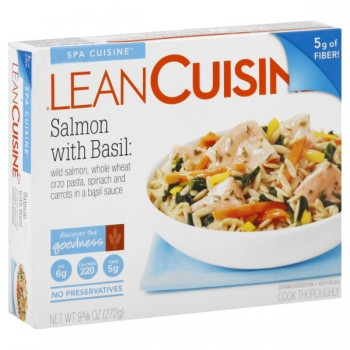 Lean Cuisine Spa Cuisine Salmon with Basil, Orzo Pasta, Carrots & Spinach