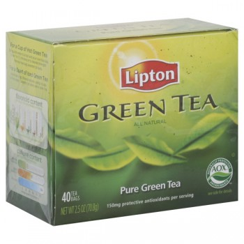 Lipton Pure Green Tea Bags All Natural