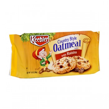 Keebler Country Style Cookies Oatmeal Raisin