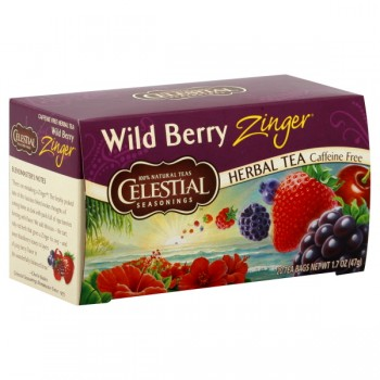Celestial Seasonings Wild Berry Zinger Herbal Tea Bags Caffeine Free