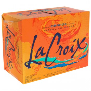 LaCroix Orange Sparkling Water - 12 pk