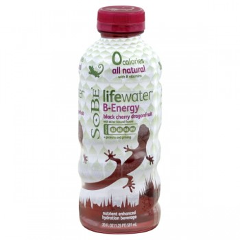 SoBe Life Water Black Cherry Dragonfruit B-Energy Vitamin Water 0 Calorie