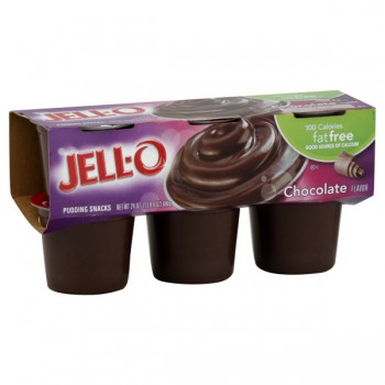 Jell-O Pudding Cups Fat Free Chocolate - 6 ct