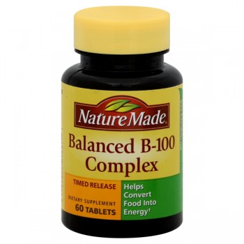 Nature Made Vitamin Balanced B-100 Timed Release Tablets