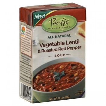 Pacific Natural Foods Soup Vegetable Lentil & Roasted Red Pepper Natural
