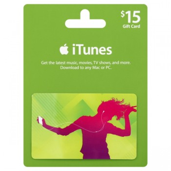 $15 Apple iTunes Gift Card