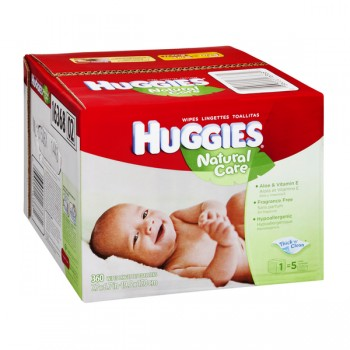 Huggies Natural Care Baby Wipes Unscented Refill