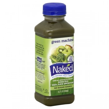 Naked Green Machine Boosted 100% Juice Smoothie No Sugar Added All Natural