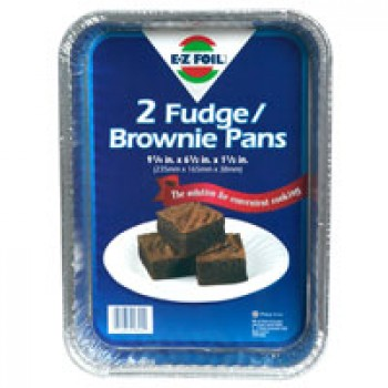 Hefty EZ Foil Brownie or Fudge Pans 9 X 6 X 1 Inch