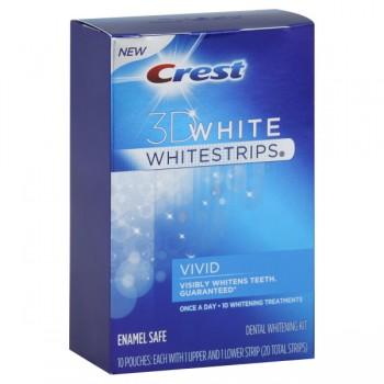 Crest 3D White Strips Dental Whitening System Vivid