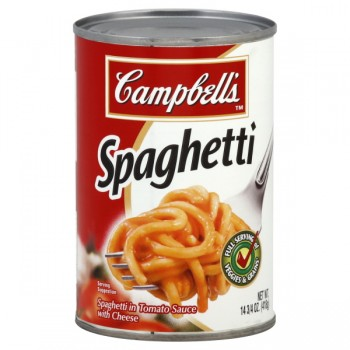 Campbell's Spaghetti in Tomato Sauce with Cheese