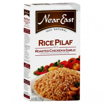 Near East Rice Pilaf Mix Roasted Chicken & Garlic 100% Natural