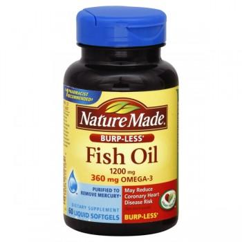 Nature Made Omega-3 Fish Oil Burp-less 1200 mg Premium Softgels