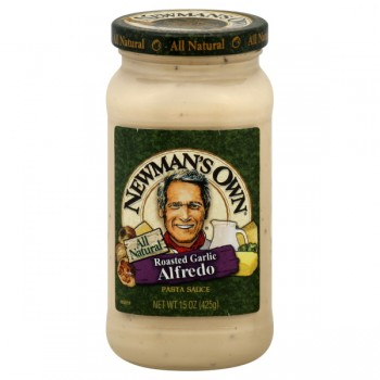 Newman's Own Pasta Sauce Roasted Garlic Alfredo