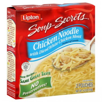 Lipton Soup Secrets Mix Chicken Noodle with Meat - 2 ct