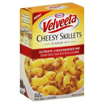 Kraft Velveeta Cheesy Skillets Dinner Kit Ultimate Cheeseburger Mac