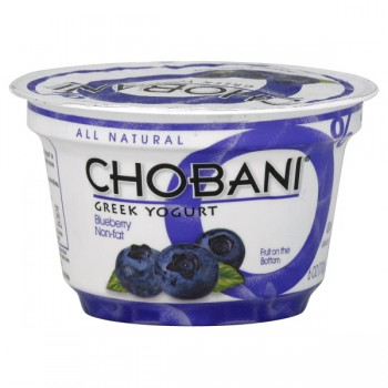 Chobani Greek Fruit on the Bottom Yogurt Blueberry 0% Non Fat All Natural