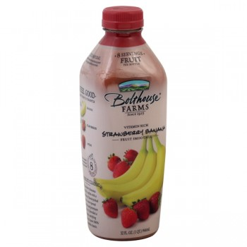 Bolthouse Farms Strawberry Banana 100% Juice Fruit Smoothie All Natural