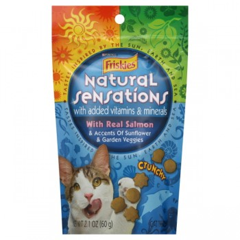 Friskies Natural Sensations Cat Treats with Real Salmon Crunchy